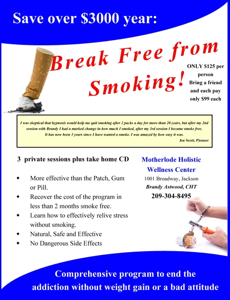 Stop Smoking Amador County!!